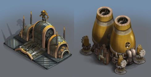 City of Gears: Factory and Power PLant by SC4V3NG3R