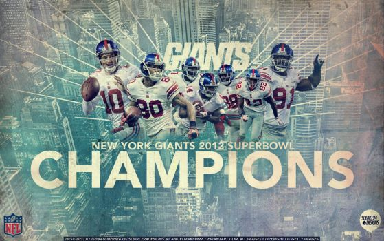 New York Giants 2012 Superbowl Champions Wallpaper by IshaanMishra