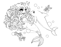 Under the Sea :: Open Lineart :: by YamPuff