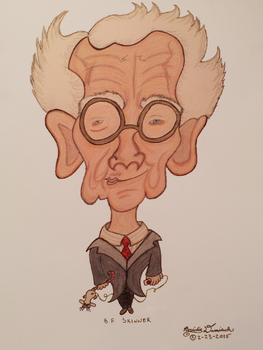 B.F. Skinner Caricature by PsychoPyro813
