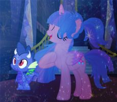 Mlp yeah i know im awesome ft Dracon the dragon by CreativePony7