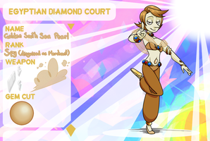 Egyptian Diamond Court: Gold Pearl by Nomlakie