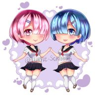 Rem and Ram by Turtle-Scribbles