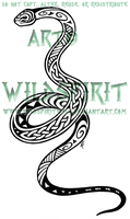Maori Celtic Snake Tattoo by WildSpiritWolf