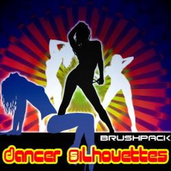 Dancer Silhouettes __brushpack by solenero73
