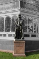 Palm House, Liverpool - Gerardus Mercator Statue by todaywiththeCJB