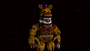 (SFM)Nightmare Fredbear Extra And Lighting Pose by SpringBonnieNotTrap