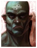 Wafi the Orc Monk by Chenthooran