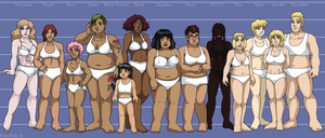 Leif and Thorn - Character Height Chart III by ErinPtah