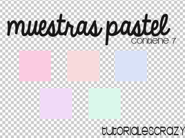 Muestras Pastel para photoshop by tutorialescrazy