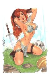 Red Sonja markers by Elias-Chatzoudis