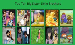 Top Ten Big Sisters-Little Brothers by IronRaphRa