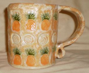 Pineapple Stamp Mug by aberrantceramics
