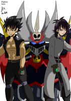 Mazinkaiser SKL and pilots by fighterxaos