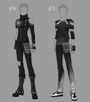 [Closed] Auction BW Outfit men 4-5 by YuiChi-tyan