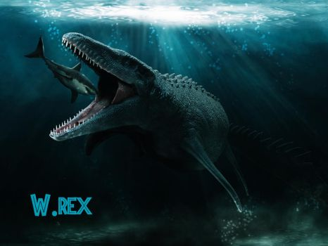 Mosasaurus 3d jurassic world by Wolfhooligans
