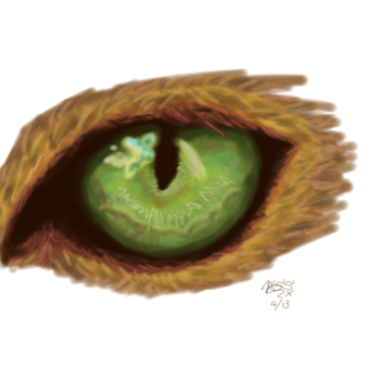 Speedpaint - Animal's eye by AnathelaRen