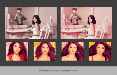Photoshop Action - Selena Gomez by MikeCocaCollins