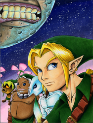 Majora's Mask Cover - No Text by KaizokuShojo