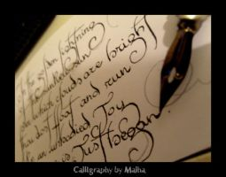 Calligraphy by Malha