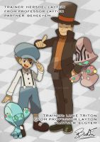 Pokemon_crossover Layton and Luke