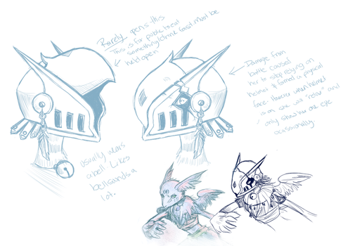 Awkward 3 : Helmet Design by RinTheYordle