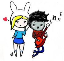 Fionna and Marshall by ChewyMonster