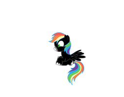 Laughing filly Rainbow Storm by Darumemay