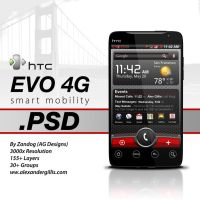 HTC EVO 4G .PSD by zandog