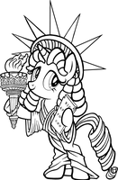 Liberty (Big Apple Ponycon Mascot) by tygerbug