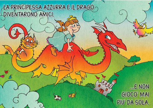 Princess Azzurra and the gluttonous dragon by euriante