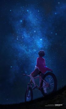 Starry sky - Study by ombobon