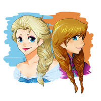 Frozen-Sisters by InnocenceShiro