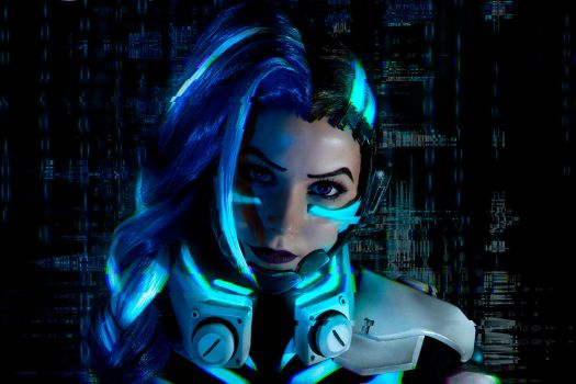 Sombra cosplay CYBERSPACE by EnotArt