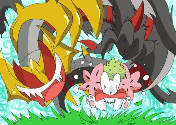 Giratina and Tasty Bouquet XD by SoftMonKeychains