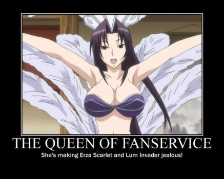 The Queen Of Fanservice by Kermitthefrog223456