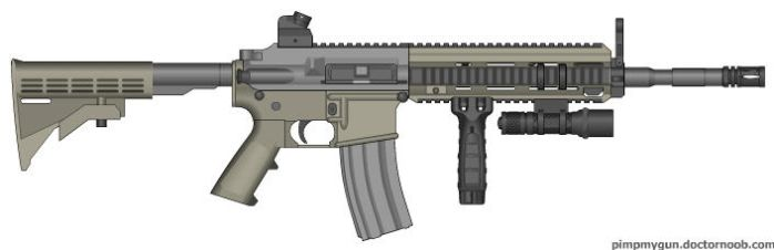 M-4 A1 with HK-416 Upper Receiver by ColtM4A2