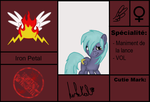 Carte Blazing Angel: Iron Petal by stashine-nightfire