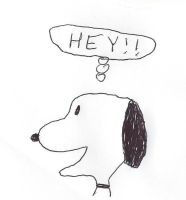 Snoopy thinks HEY! by dth1971