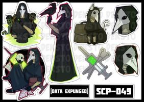 Sticker SCP-049 by Dekst0