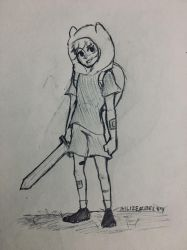 Finn doodle by Ailizerbee08