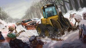 Zed North: Zombie Plowing by MisterCrowbar