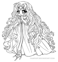 Princess Emeraude Chibi by YamPuff