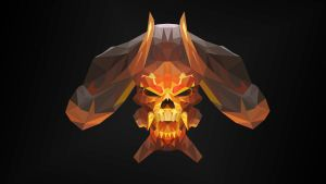 Bone Clinkz Dota 2 Low Poly Art by giftmones