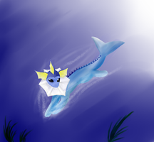 Vaporeon by creepyeevee