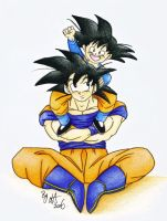 Goku and Goten by VegetaVixen22