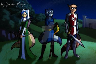Sibling Thieves in Time - Medieval England by EmilieSushi