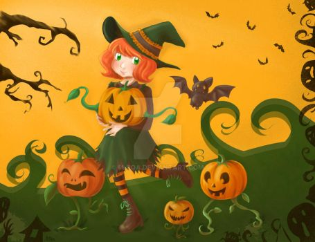 Pumpkin Witch by m-roa