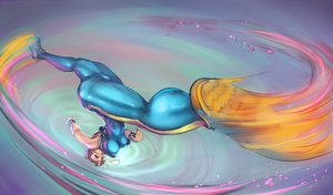Chun-li Spinning Bird Kick by cutesexyrobutts