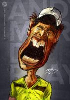 Andy Murray Caricature by libran005